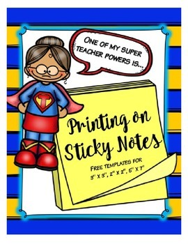 Printable Sticky Note Template
