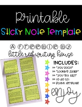 photo relating to Printable Sticky Notes called Printable Sticky Notes