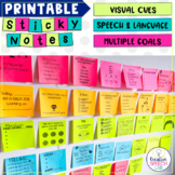 Printable Sticky Notes: Visual Cues for Speech-Language Therapy