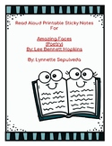 Printable Sticky Notes for Read Aloud of Amazing Faces by Lee Bennett Hopkins