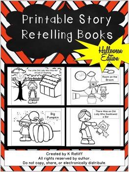 Printable Story Retelling Books:  Halloween Edition