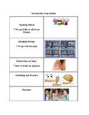 Printable Structured Play group schedule
