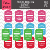 Printable Student Council Tags // Student Government // Mock Election - Free100