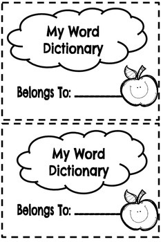 Mini Student Dictionary (Dolch List)