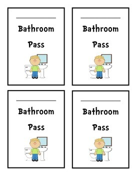 Printable Student Passes - Hall Pass, Office Pass, Library Pass, Bathroom Pass