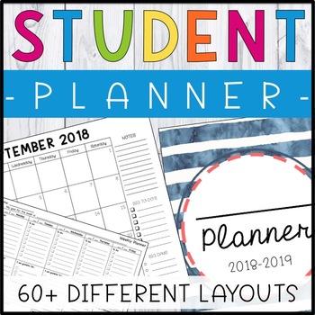Printable Student Planner - Student Binder (Growing Bundle)