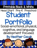 Student Portfolio Printable Template for Preschool Pre-K H