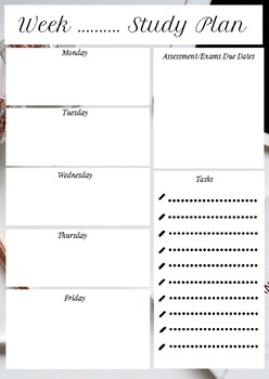 photograph about Study Planner Printable named Printable Review Planner / Weekly planner / Each day planner