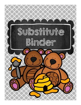 Printable Substitute Teacher Binder