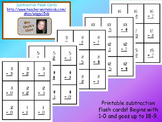 Printable Subtract Flash Cards