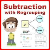 Subtraction Story Word Problems using Number Bonds Grade K-2