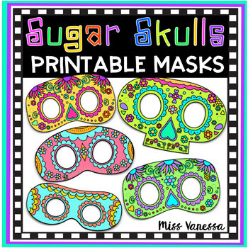 Sugar Skull Masks for Day of The Dead Activities