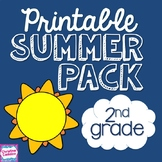 Summer Review Packet NO PREP for Second Grade