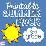 Summer Review Packet NO PREP for Third Grade | Distance Learning
