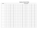 Printable Sunrise Sunset Chart