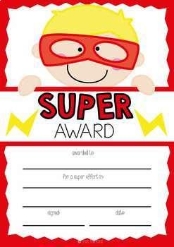 Printable Super Awards {Includes Text Editable}