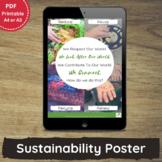 Printable Sustainability Poster for PreK, Childcare, OSHC & EYLF