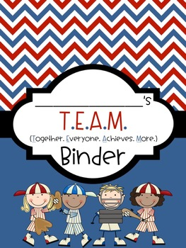 Printable TEAM Binder Bundle (EDITABLE)