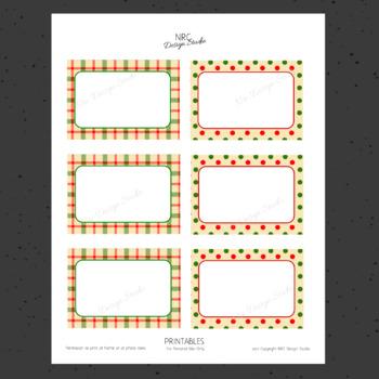 Printable Tags, Christmas Printable, Labels, Vintage - Classroom Decoration