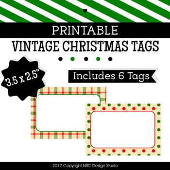 printable tags christmas printable labels vintage classroom