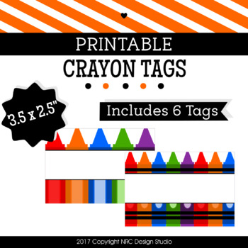 printable tags crayon printable labels name classroom decoration