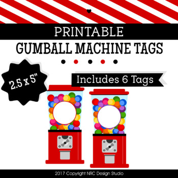 printable tags gumball machine printable labels name classroom