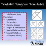 image regarding Tangram Template Printable identified as Tangram Templates Worksheets Education Products TpT
