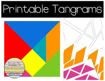 picture relating to Printable Tangrams titled Printable Tangrams
