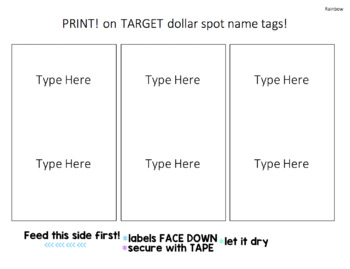 Printable Target Dollar Spot Name Tags