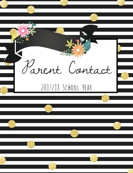 Printable Teacher Binder Covers- Gold & Floral