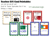 Printable Teacher Gift Card Templates – cute way to present a gift card