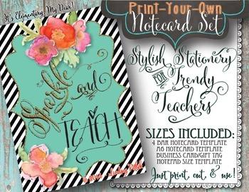 Notecards for Teachers {Printable}: Sparkle & Teach