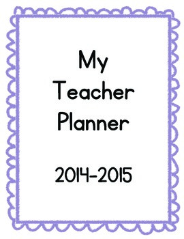 Printable Teacher Planner 2014-2015
