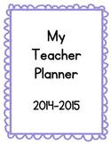 Printable Teacher Planner 2014-2015