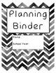 Printable Teacher Planner Binder Pages - Black Chevron