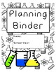 Printable Teacher Planner Binder Pages - Science Theme