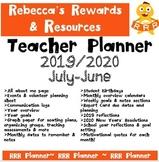 Printable Teacher Planner (July-July 2020) CHEAP, EASY & READY!!