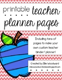 Printable Teacher Planner Pages