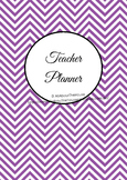 Printable Teacher Planner - organization - EDITABLE - PURPLE Chevron