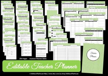 Printable Teacher Planner - organization - EDITABLE - PURPLE Chevron