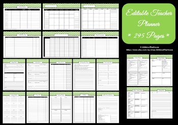 Printable Teacher Planner organization, classroom organization EDITABLE