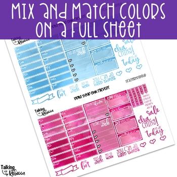 Printable Teacherpreneur Planner Stickers Watercolor