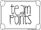 Printable Team Points for Classroom Management