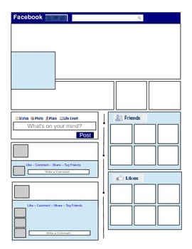 Printable Template - Facebook