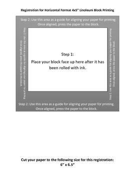 Printable Template Lino Block Printing 4x5