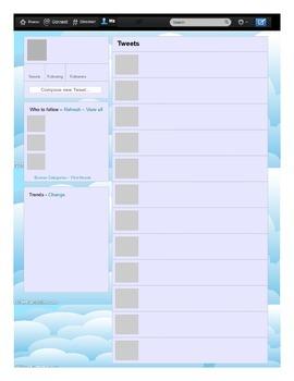 Printable Template - Twitter