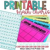 Printable Ten Frame and Hundreds Chart