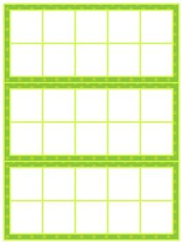 Printable Ten Frames- Bright Colors