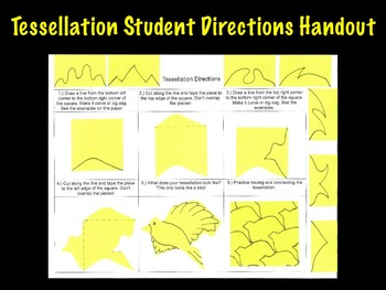 Printable Tessellation Student Art Project Directions Handout