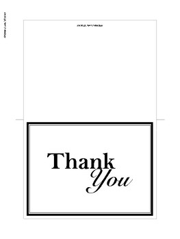 graphic about Printable Thank You Cards named Printable Thank By yourself Playing cards for Moms and dads, Academics, and Coworkers